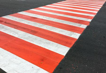 Close up of a zebra crossing