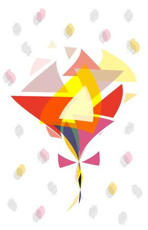 Abstract bouquet Illustration
