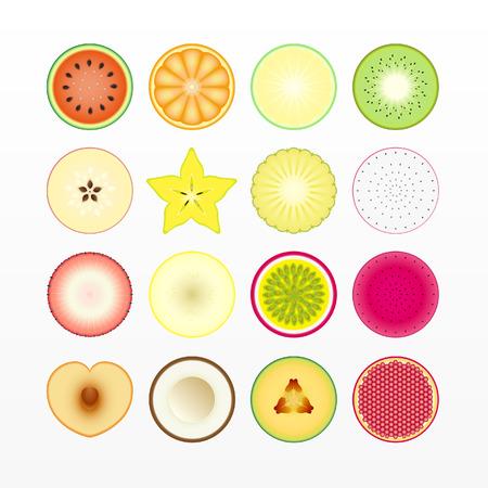 variety of Fruit sliced