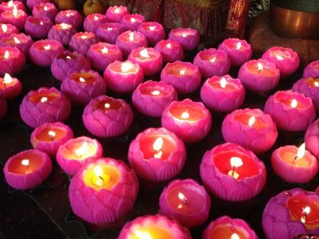 Praying candles