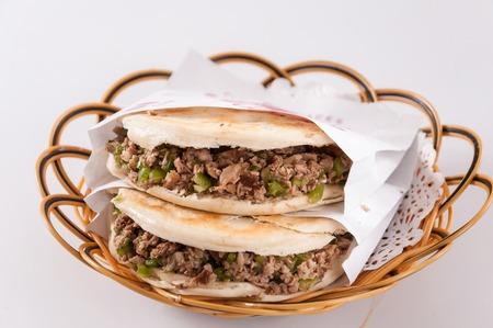 Chinese hamburger ,Shaanxi characteristic Banco de Imagens