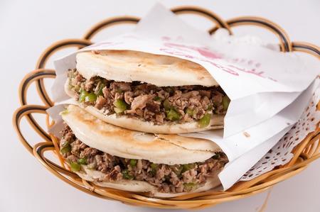 characteristic: Chinese hamburger ,Shaanxi characteristic Editorial