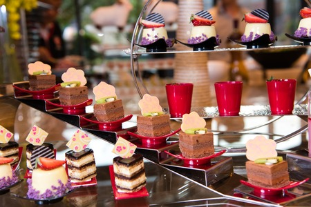 french fancy: Diversity of dessert with fruit