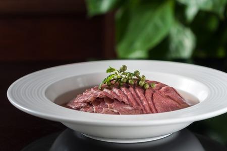 plato de comida: ternera con especias, la comida china Foto de archivo