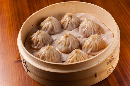 chinesse: Chinesse cuisine -  Steamed Crab Roe and beef Dumpling Stock Photo