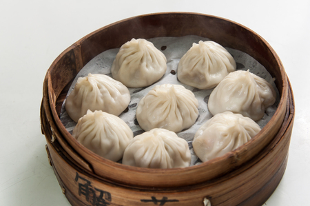 chinesse: Chinesse Food with Stream Pork Dumpling Editorial