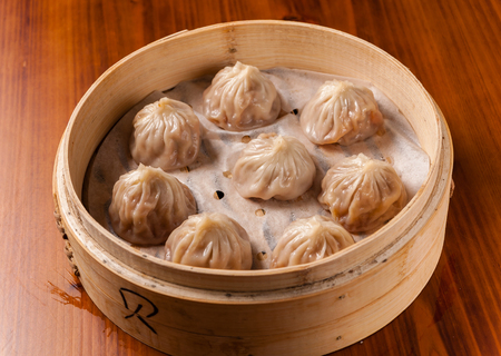 chinesse: Chinesse Food with Stream Pork Dumpling Stock Photo