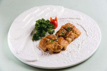 teriyaki: Japanese food, Teriyaki chicken Stock Photo