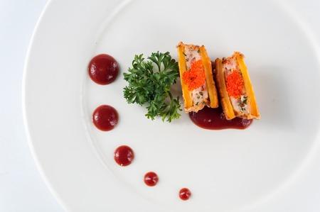 batata: Mariscos patata dulce, kaiseki Foto de archivo