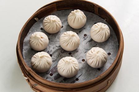 pork: Chinesse Food with Stream Pork Dumpling Stock Photo