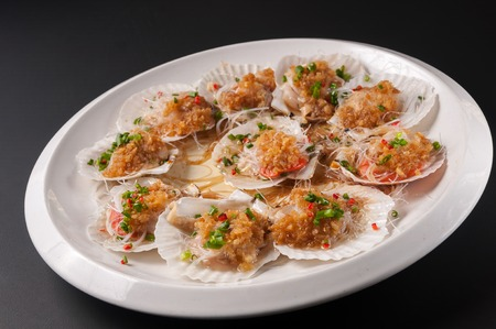 Steamed Scallop fans  Shell with garlic