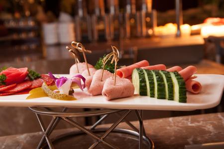 cold cut: salami cold cut platter