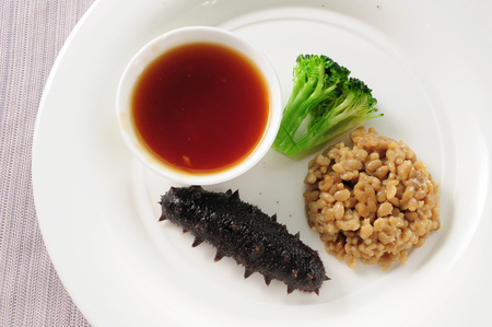 sea cucumber: Chinese cuisine--Braised Sea Cucumber in Abalone Sauce