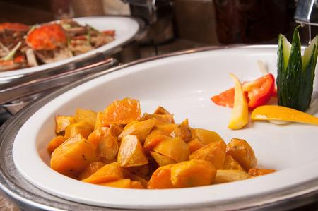 batata: Los platos calientes-miel asado de batata