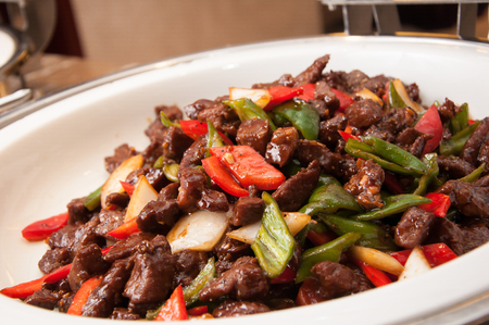 Chinese cuisine-Sauteed Beef Fillet with Black Pepper