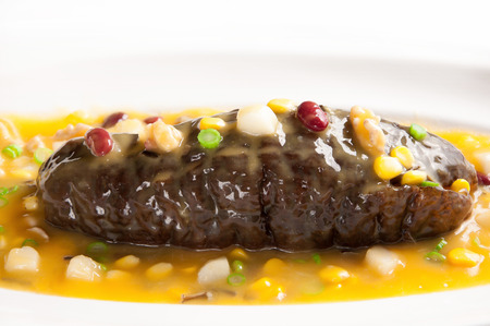 stewed: Chinese cuisine-Grain stewed sea cucumber