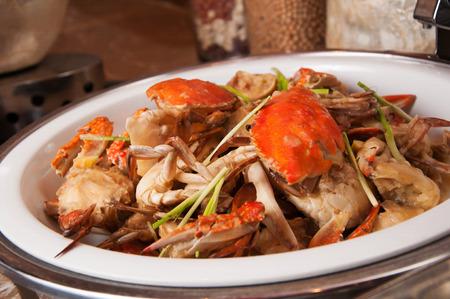 chinesisch essen: Meeresfr�chte-samba Sauteed Crab Lizenzfreie Bilder