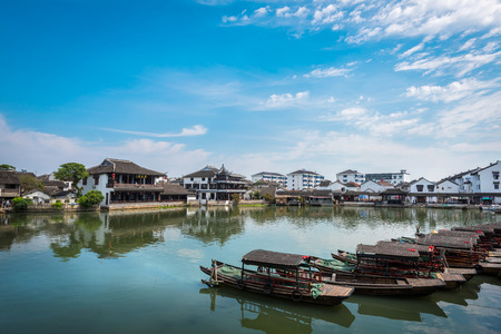 Kunshan City, Suzhou province Jiangsu China Jinxi ancient town of natural scenery