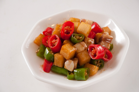 Fried potatoes with pepper