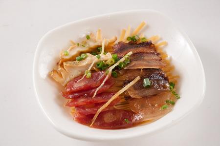 スモーキーな風味蒸し、一緒に中華料理 写真素材