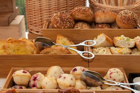 Bread in wooden boxes Stock fotó - 73793846