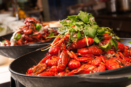 Spicy Chinese crayfish dish Banco de Imagens