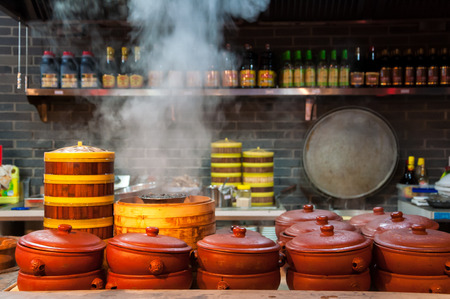 Traditional Chinese style Kitchen Stock fotó
