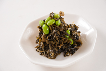 preserved vegetable with soybean,chinese cuisine