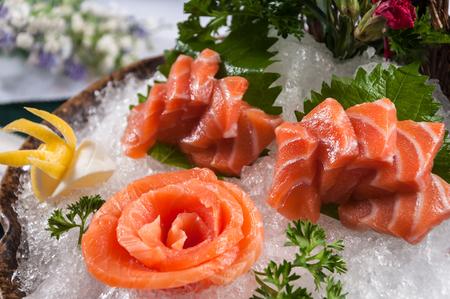 Raw Salmon Sashimi