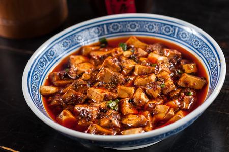 sichuan mapo tofu, chinesisches essen Standard-Bild