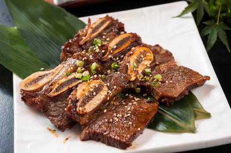 teppanyaki beef rib 스톡 콘텐츠