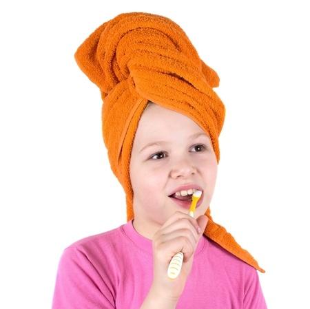 The girl brushes teeth Stock Photo - 9544400