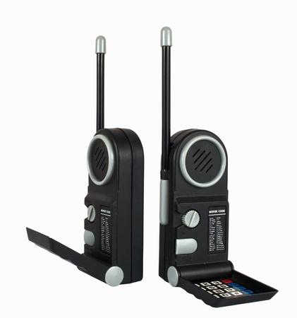 Two black Portable radio sets photo