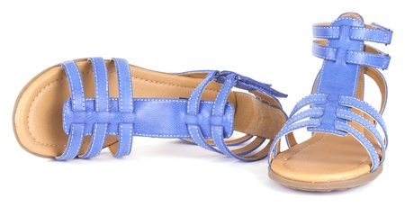 hz: Blue childrens maiden sandal