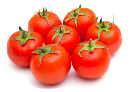 Red tomatoes isolated on a white background Stock Photo - 9626629