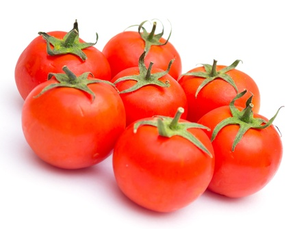 Red tomatoes isolated on a white background Stock Photo - 9626631