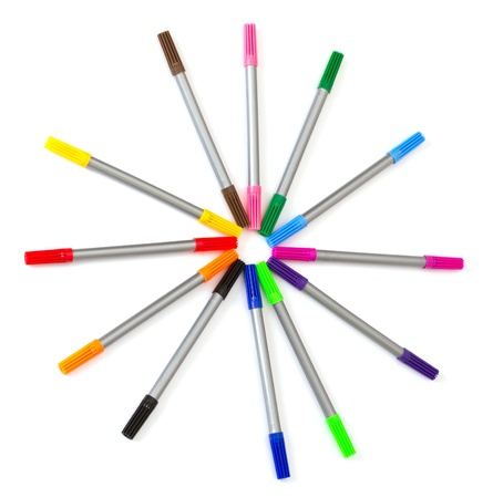 Multi-colored felt-tip pens Stock Photo - 9626634