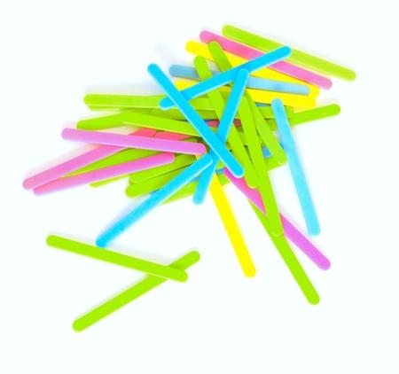 Multi-colored sticks photo