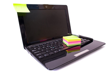 Laptop and notes Stock Photo - 9625972