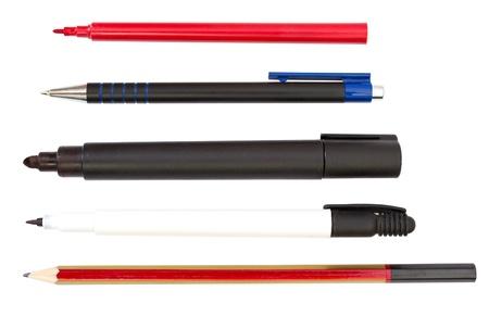 Pencil, Pens, Marker, Highlighter photo