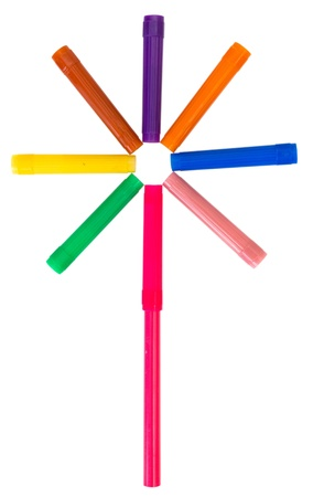 Multi-colored felt-tip pens photo