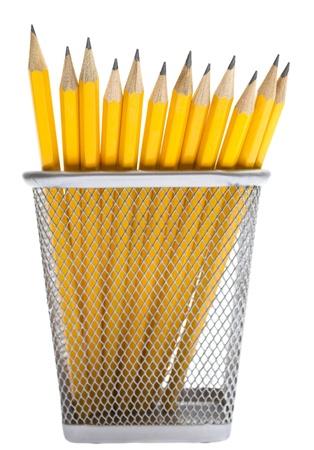 Pencils in the pencil holders Foto de archivo