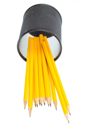 Close-up of  pencils in Pencil box photo