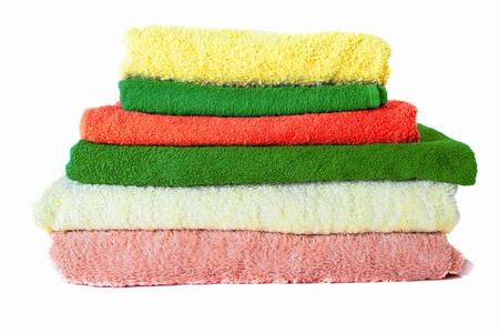 terry Towels on white photo
