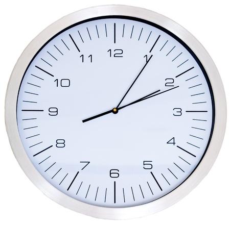 five objects: Orologio da parete isolato su bianco