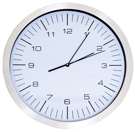 Wall Clock isolated on white Stock Photo - 10331094
