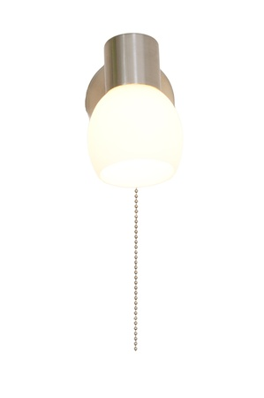 Lighted classic sconce on white  photo