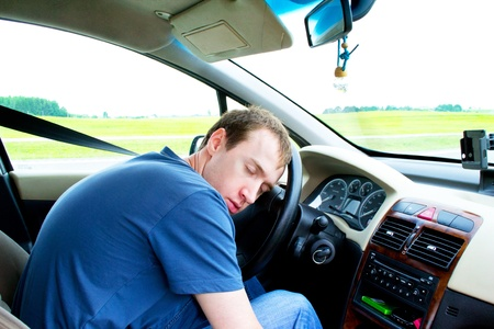 respite: man sleeps in a car