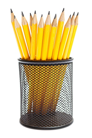 pencils in pencil holders photo