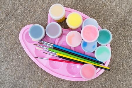 gouache: Gouache paint Stock Photo